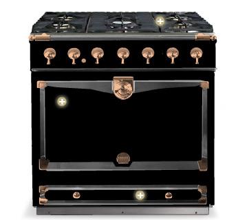 Gloss black bella cucina design - La cornue chateau 90 ...