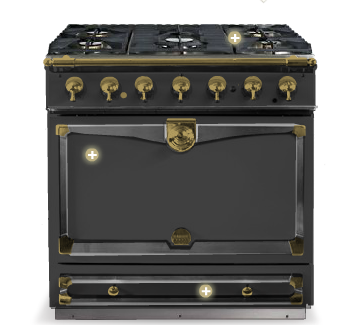 la cornue cornuf stove available from bella cucina design. Black Bedroom Furniture Sets. Home Design Ideas